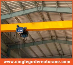Single girder overhead travelling cranes supplier and manufacturing